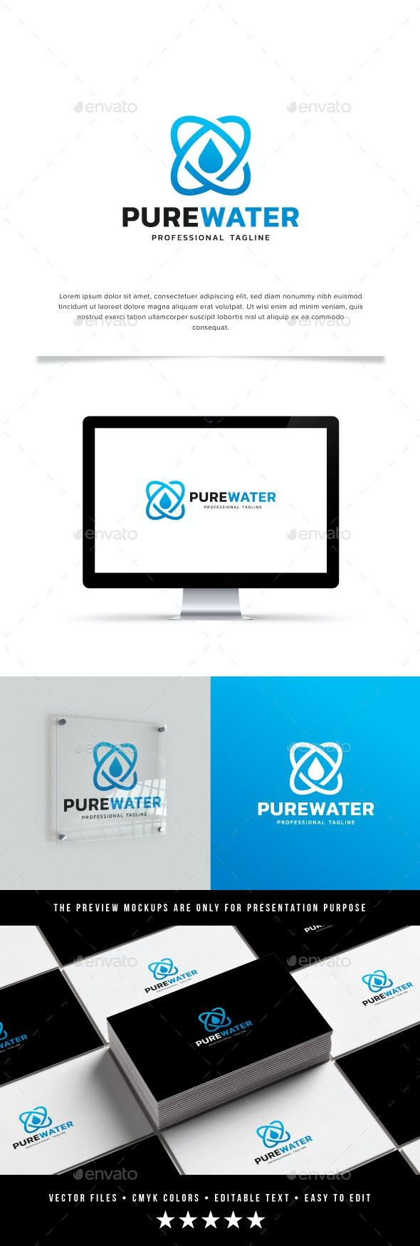 Pure Water Logo - Symbols Logo Templates