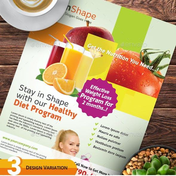 Healthy Diet Program Flyers