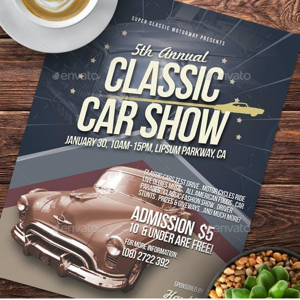 Alternative Classic Car Show Flyers