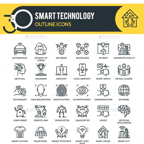 Technology Outline Icons