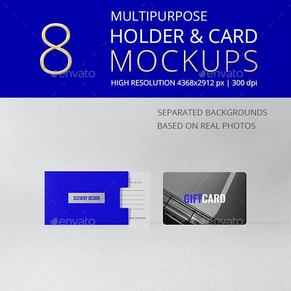 Multipurpose Holder & Card Mockup Vol 10.0