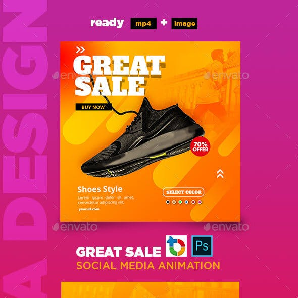 Great Sale Social Media Animation Banner