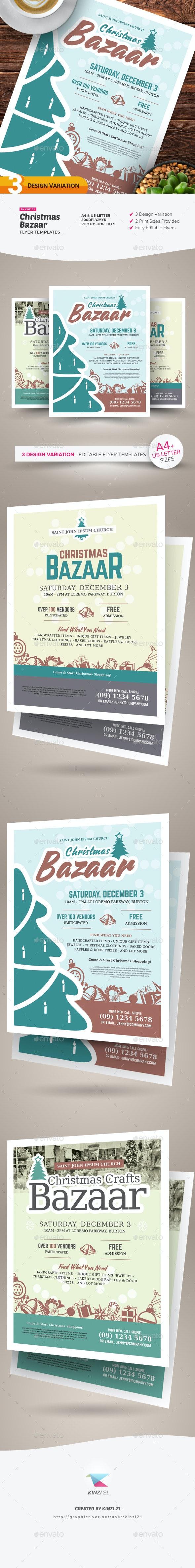 Christmas Bazaar Flyer Templates - Holidays Events