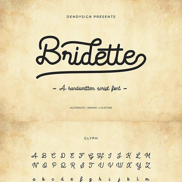 Bridette Handwritten Script Font
