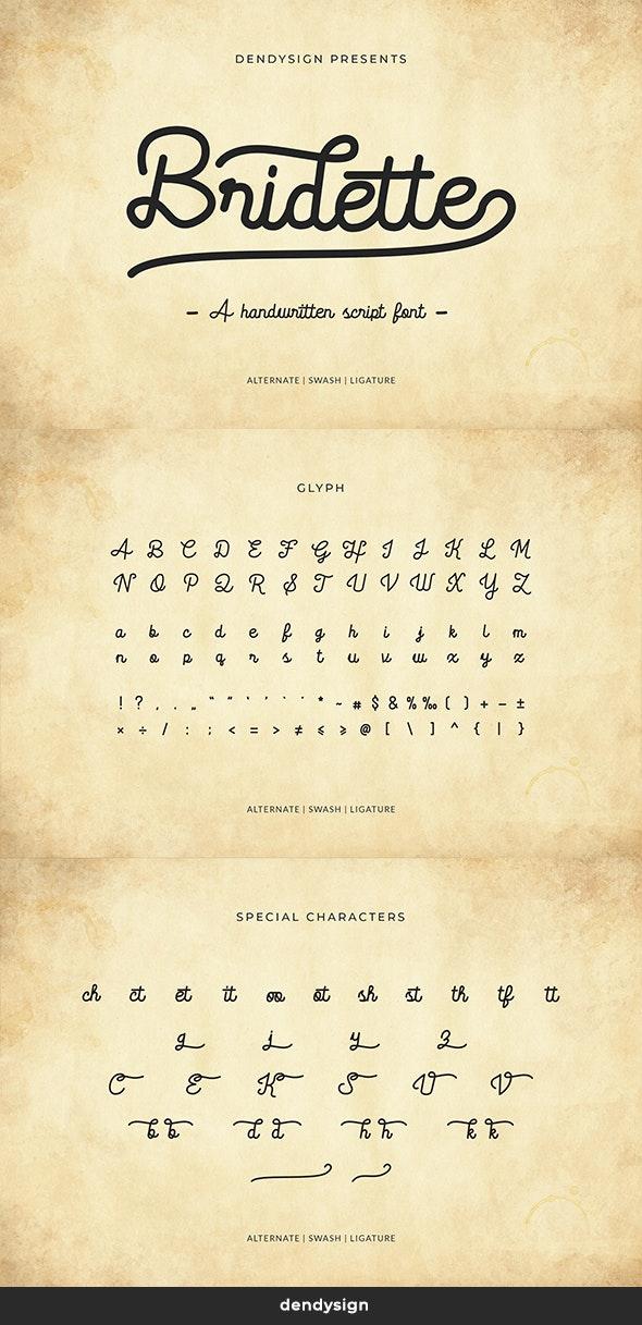 Bridette Handwritten Script Font - Hand-writing Script