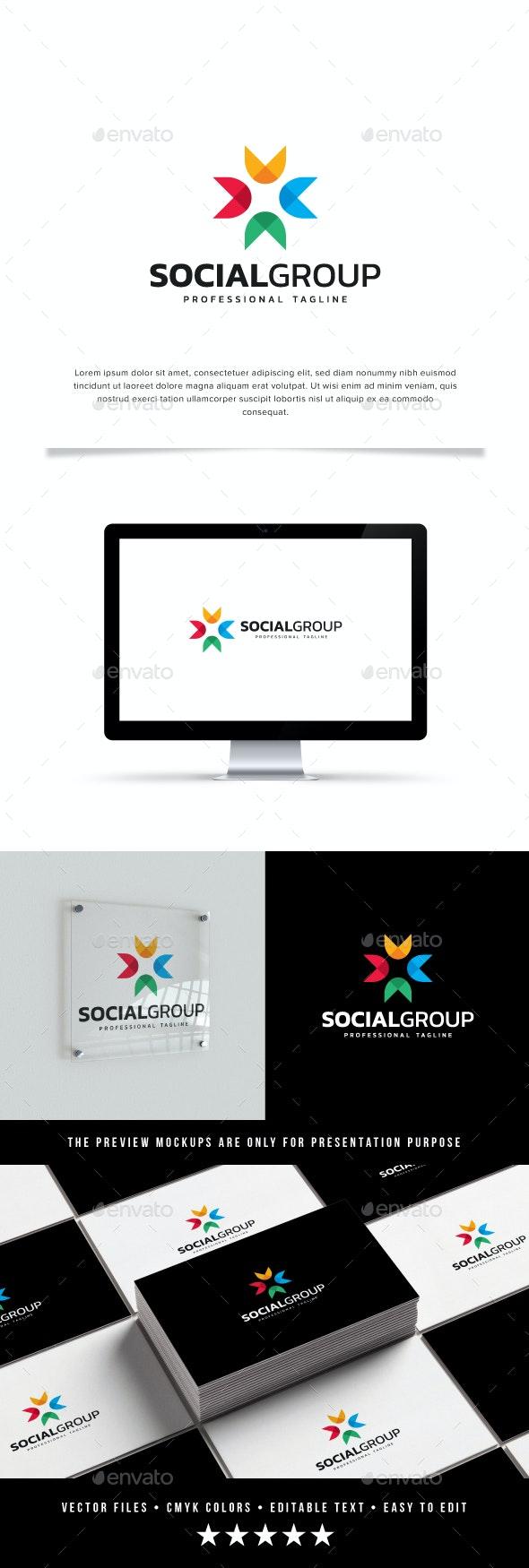 Social Group Logo - Abstract Logo Templates