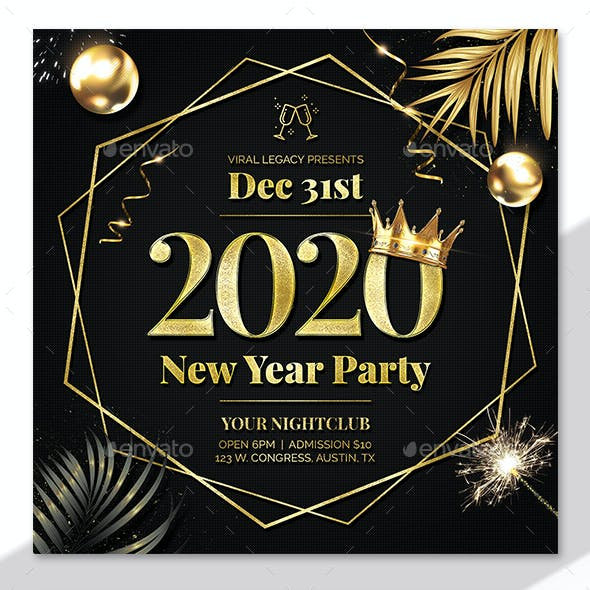 New Year Party Poster / Flyer V23