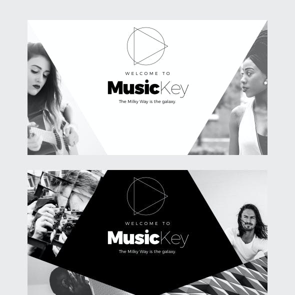 MusicKey - Minimal Keynote Template