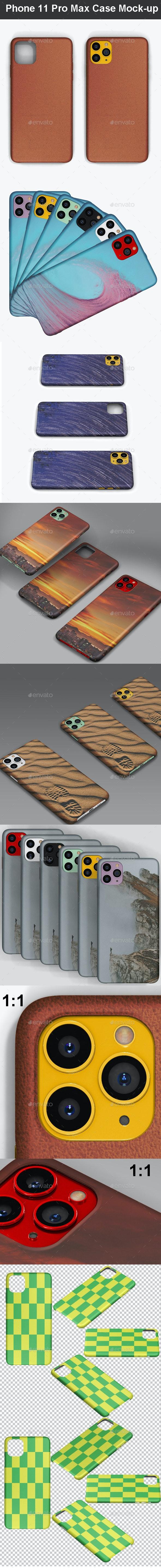 Phone 11 Pro Max Case Mock-up - Mobile Displays