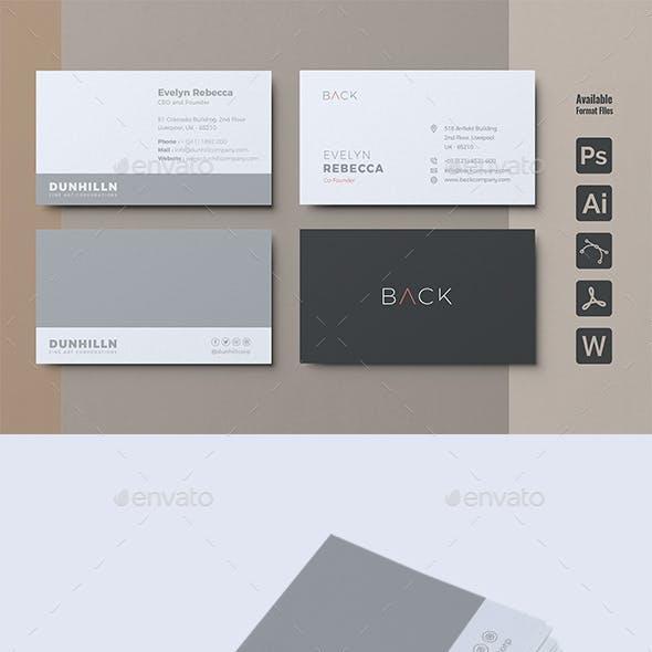 Minimalist Business Card Vol. 04