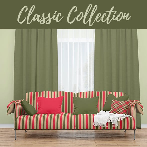 Classic Collection - 60 Tartan & Stripe Backgrounds + 60 PS Patterns.