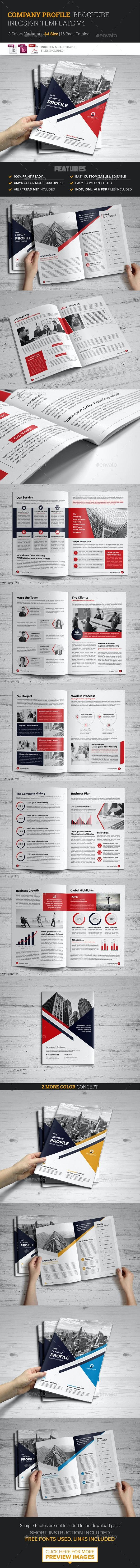 Company Profile Brochure Template v4 - Brochures Print Templates