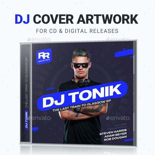 Modern DJ Mix / Album CD Cover Artwork Template