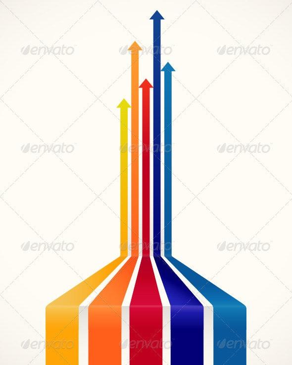 Colored Arrows - Decorative Symbols Decorative