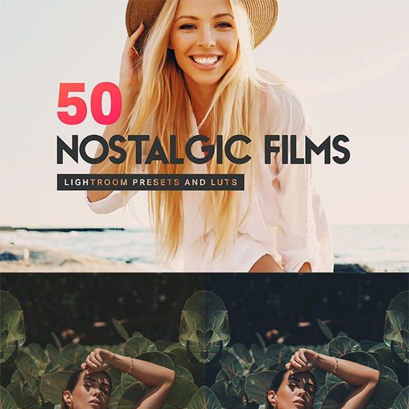 50 Nostalgic Films Lightroom Presets and LUTs