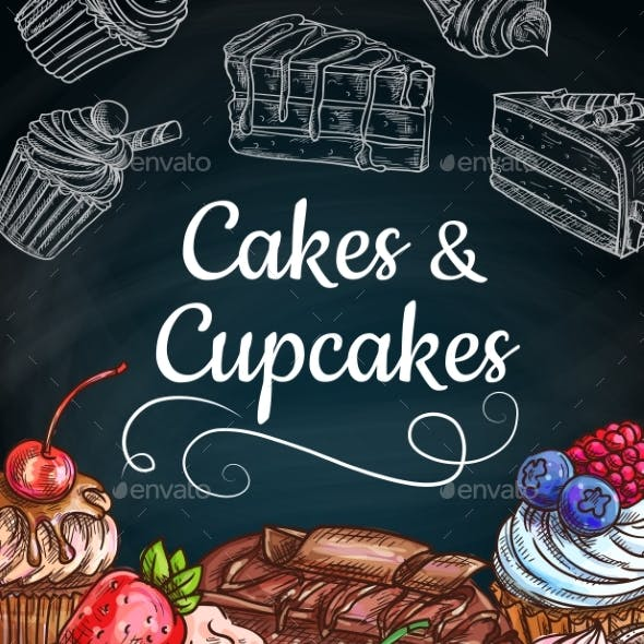 Chocolate Cakes, Cupcakes and Muffins with Cream