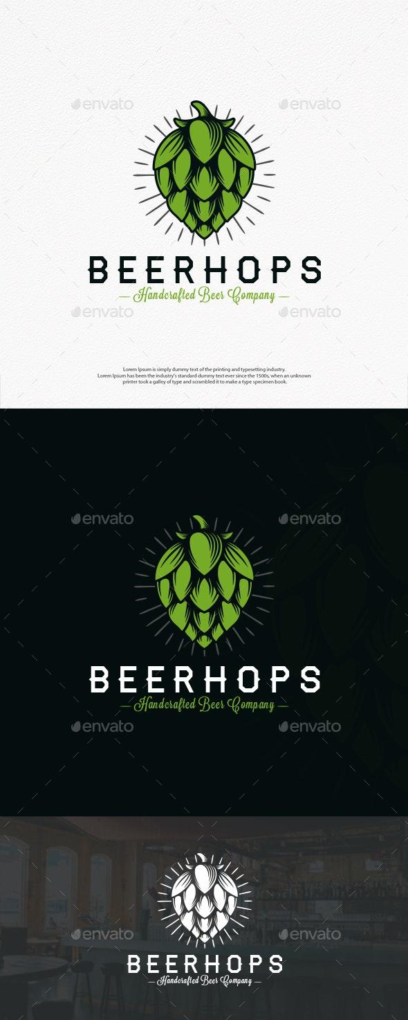 Beer Hops Crest Logo - Crests Logo Templates