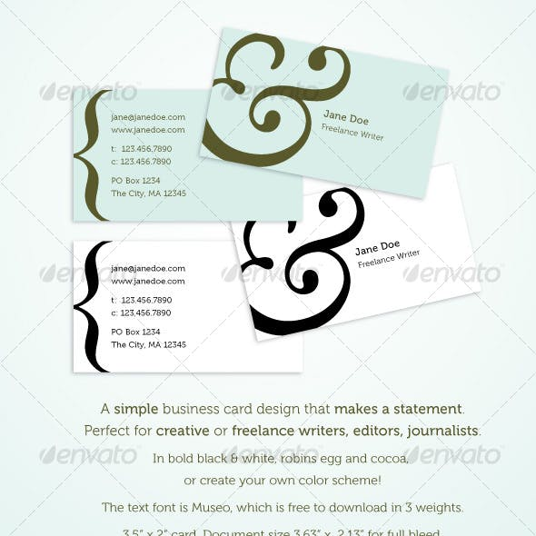 Editor Industry Specific Business Card Templates