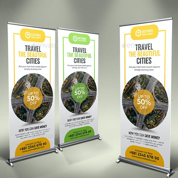 Travel Business Roll up Banner V45