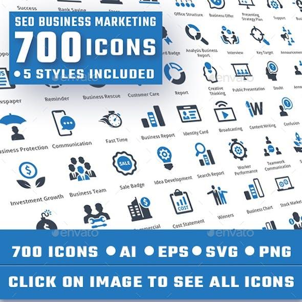 Seo Business Marketing Icons