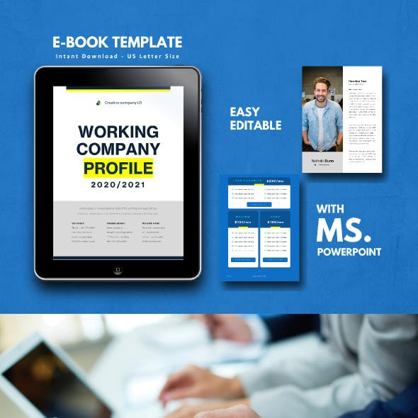 Ebook Template Powerpoint Graphics Designs Templates