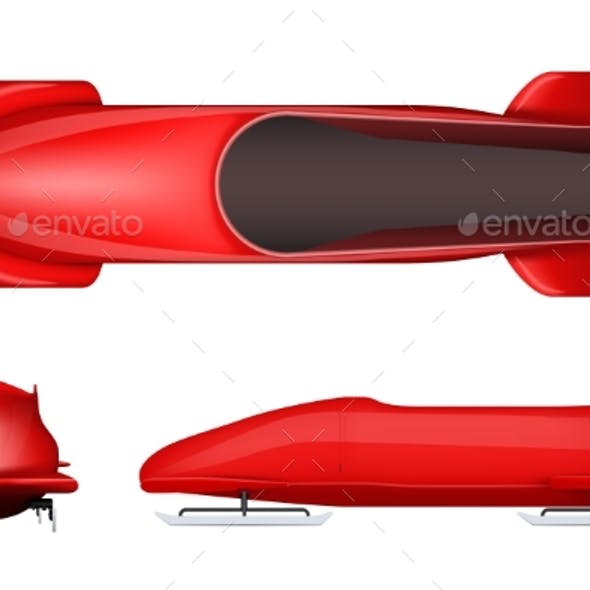 Set of Bobsleighs for Two Athletes