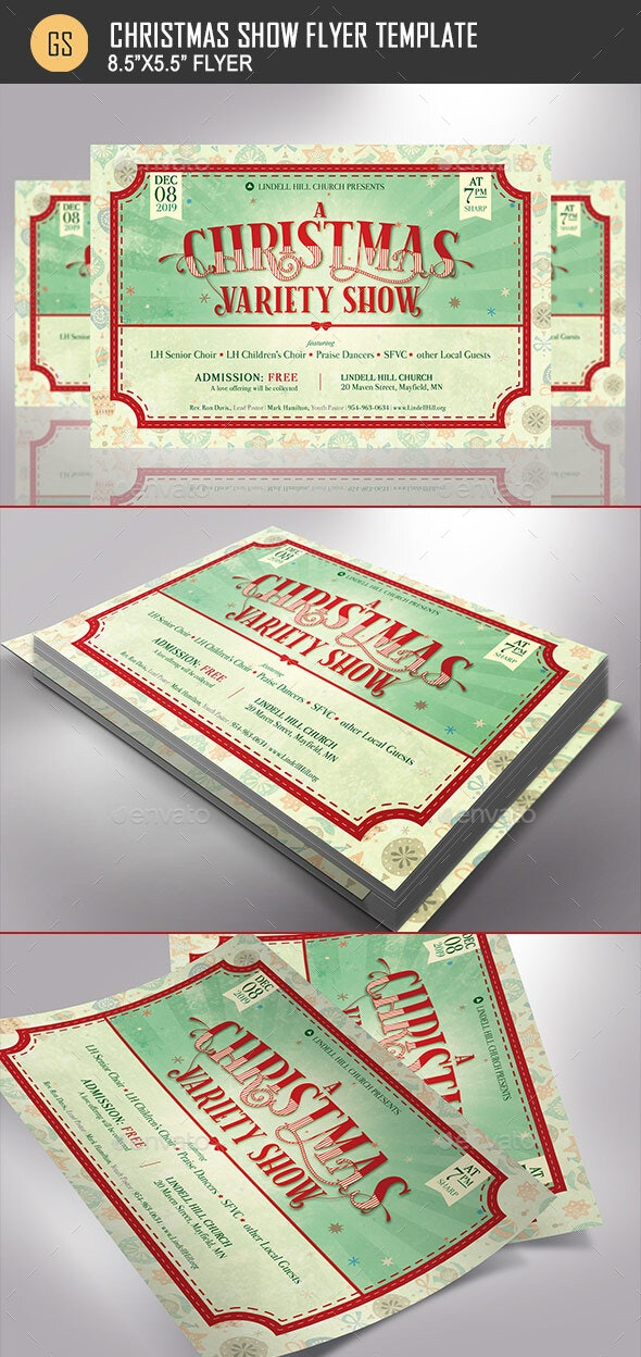Christmas Show Flyer Template - Holidays Events