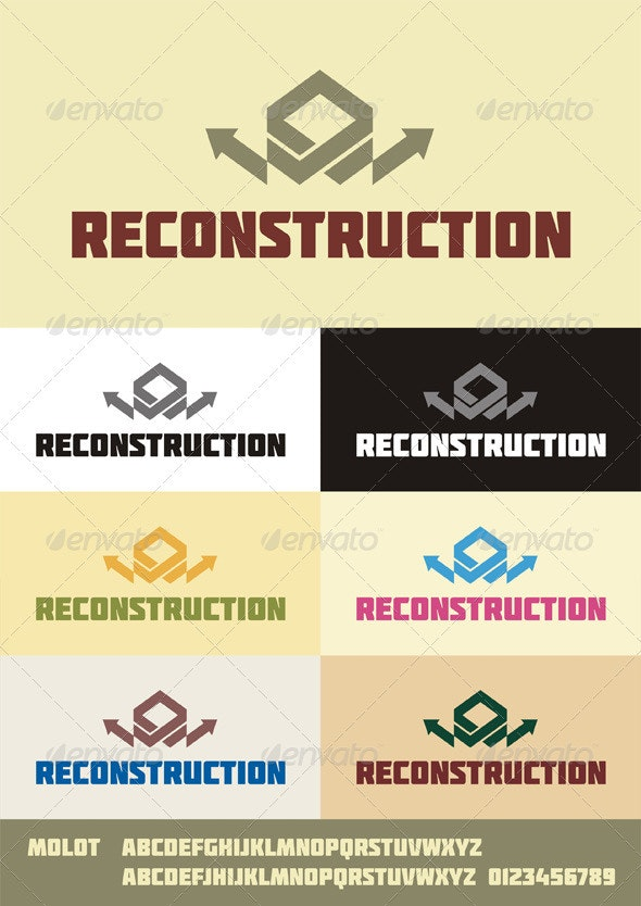 Reconstruction Logo - Abstract Logo Templates
