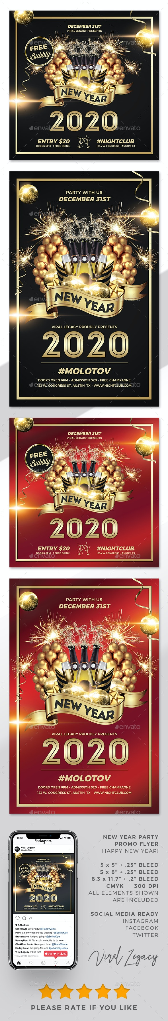 New Year Party Poster / Flyer V20 - Events Flyers
