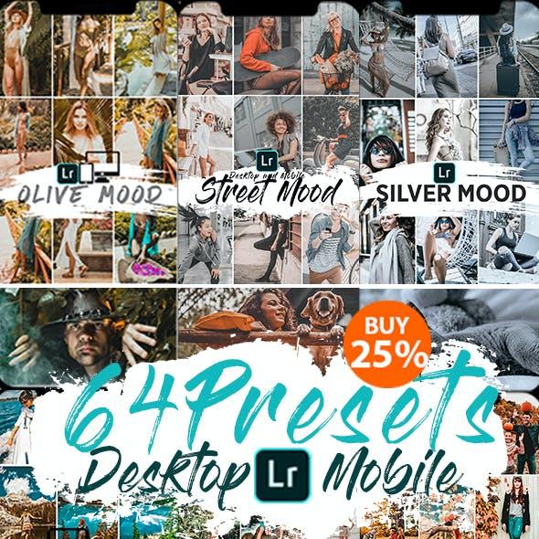 64 Presets Lightroom Desktop & Mobile
