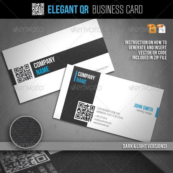 Elegant QR Business Card