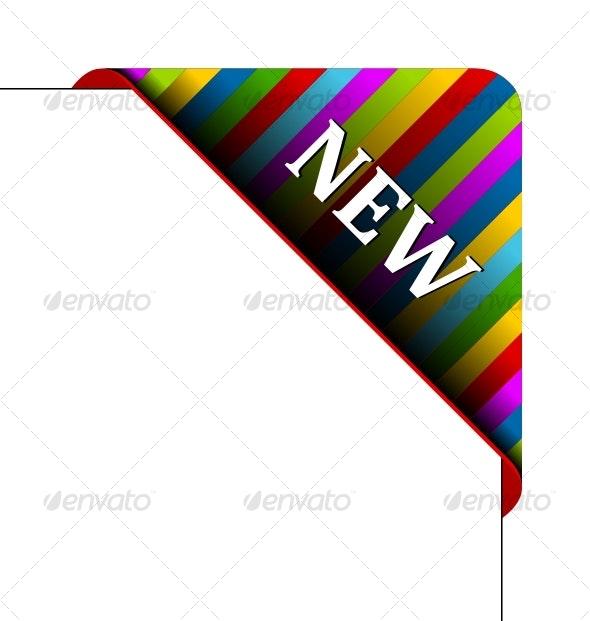 Vector corner. Business ribbon - Decorative Symbols Decorative
