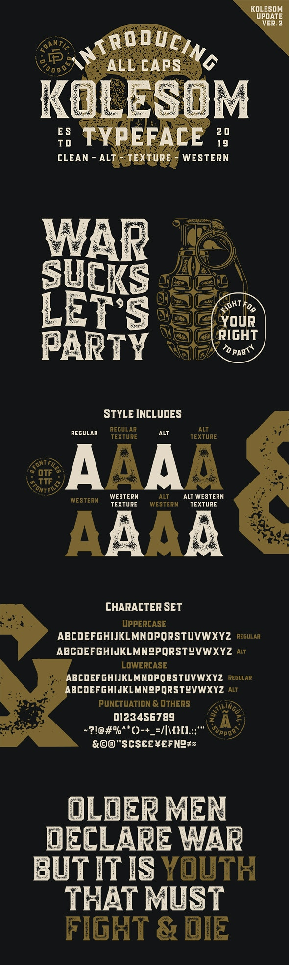 Kolesom Typeface - Cool Fonts
