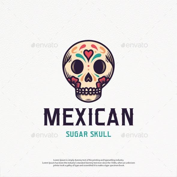 Dia de Muertos Skull Logo