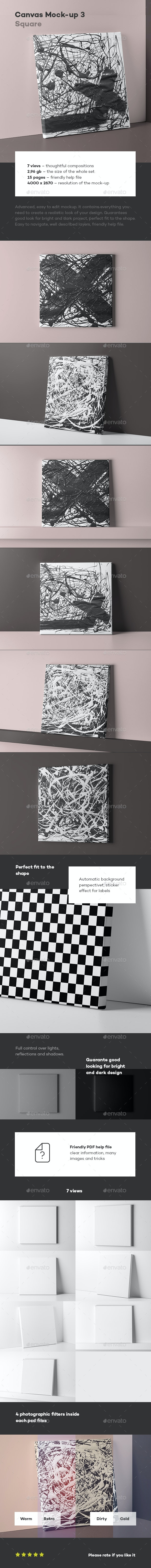 Canvas Mock-up 3 - Miscellaneous Product Mock-Ups