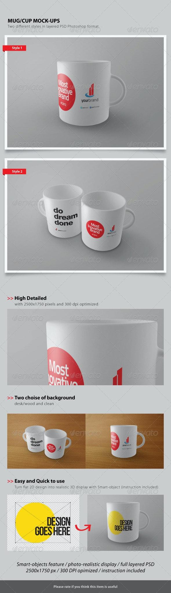 Cup / Mug Mock-ups - Food and Drink Packaging