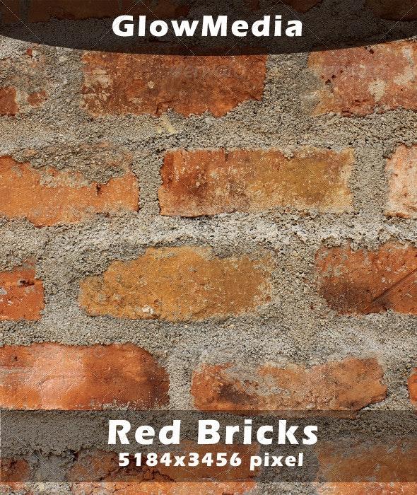 Red Color Bricks - Concrete Textures