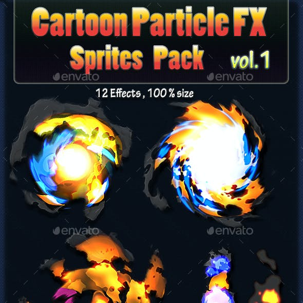 Cartoon Particle Effects Sprites Vol.1