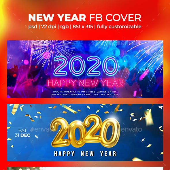 New Year Facebook Cover 2020