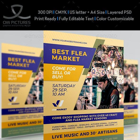 Flea Market Flyer Template