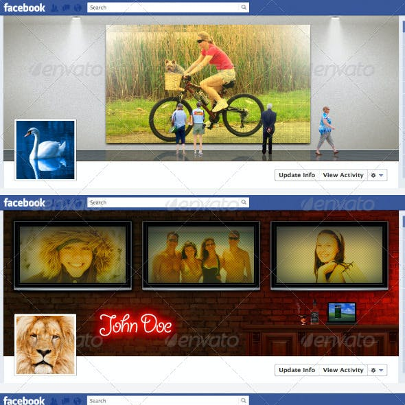 3 Creative Timeline Covers for Facebook