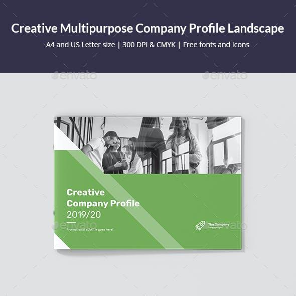 Creative Multipurpose Company Profile Landscape