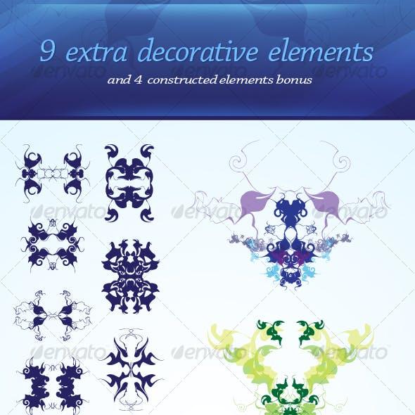 9 decorative elements
