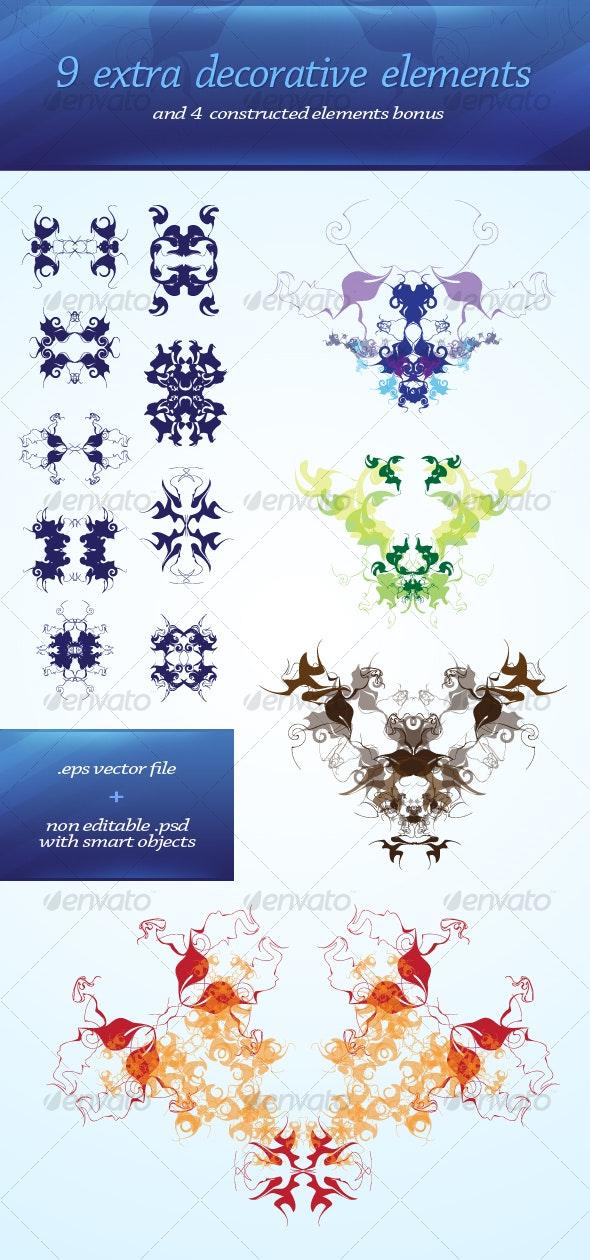 9 decorative elements - Decorative Vectors