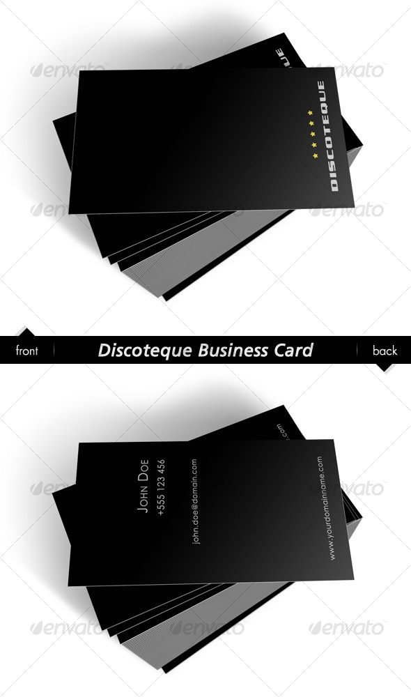 Discoteque Business Card - Corporate Business Cards