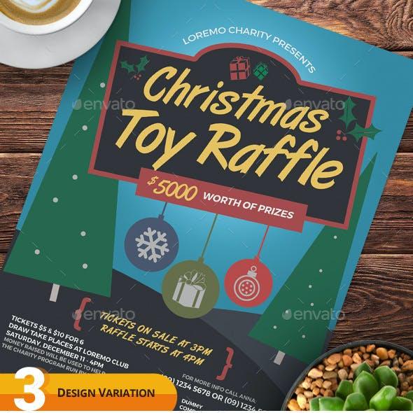 Christmas Raffle Flyer Templates
