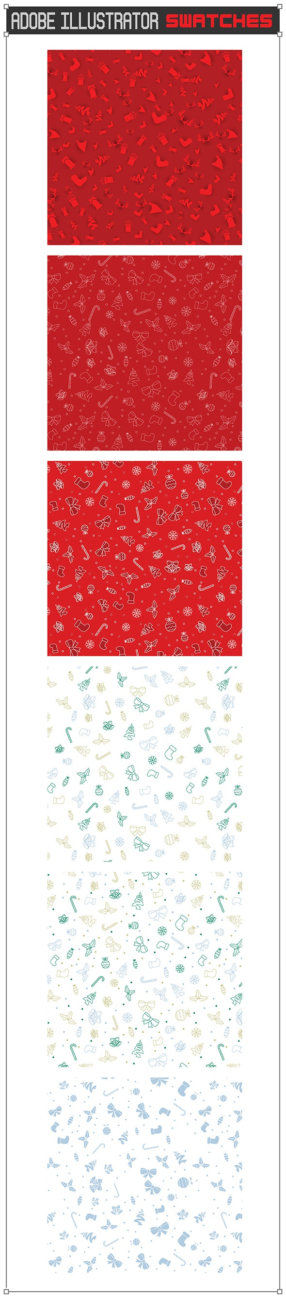 Christmas Pattern Swatches - Abstract Textures / Fills / Patterns
