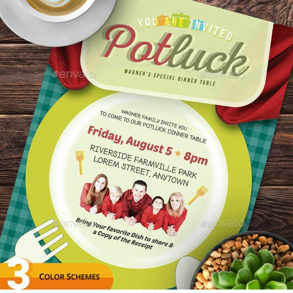 Potluck Event Flyers