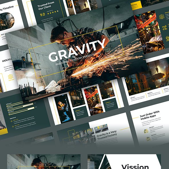 Gravity - Factory & Industrial PowerPoint Template