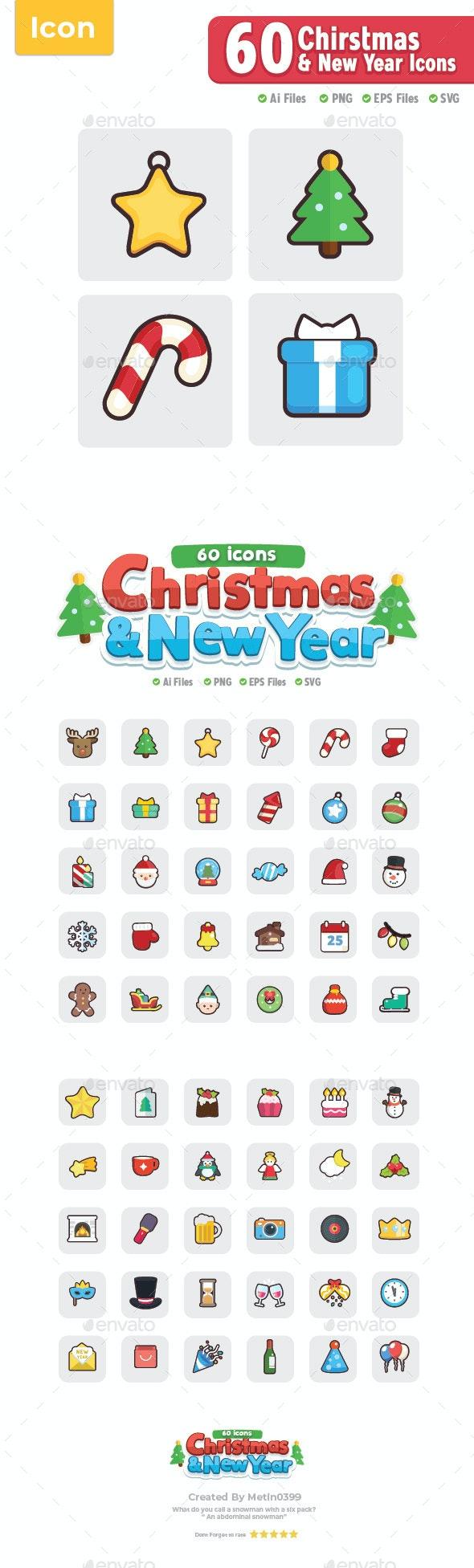 60 Icons Chirstmas - Seasonal Icons